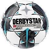 Derbystar - Pallone da Calcio per Adulti della Bundesliga Brillant APS, Bianco, Nero, Petrolio, 5