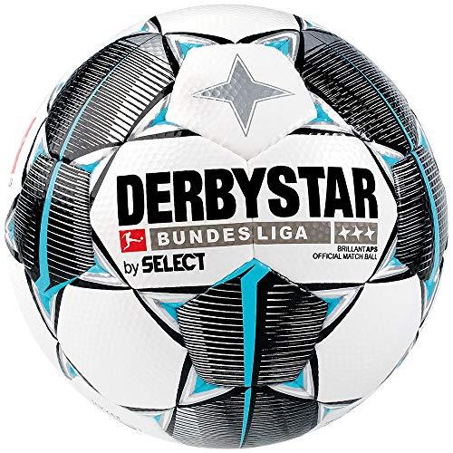 Derbystar Erwachsene Bundesliga Brillant APS Fußball, Weiss schwarz Petrol, 5 (Fußball Ball)