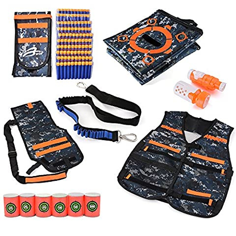XCSOURCE Ensemble Elite Nerf N-Strike Série Tactique- 100pcs Balles de