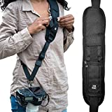 Camera Straps for Canon,Nikon, Extra Long Neck Strap W/Quick Release and Safety Tether, Perfect for All DSLR including eBook, Lens Cloth, SD Card Case and 3-Year Warranty. By HiiGuy