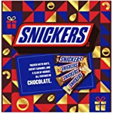 Snickers Chocolates Bar Valentines Day Gift Box - Peanut (45g), Cashew (45g), Almond (45g) & Butterscotch (40g) [Pack of 12]