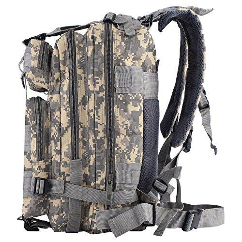 Outad zaino militare tattico 30l in oxford, 3p zaino molle campeggio escursionismo zaino d'assalto bag, acu
