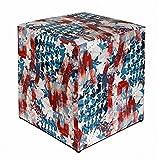 Kaikoon Pouf Cube Imprimé Drapeau USA 35cm x 35cm x 42cm