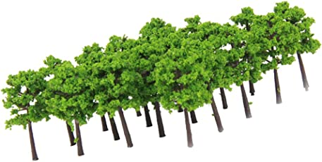 Generic Plastic Model Trees Train Railroad Scenery 1:250 40pcs Green