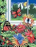 Royal Langnickel PJS17 - Malen nach Zahlen Din A4 - Schmetterlinge