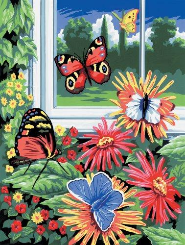 Royal & Langnickel PJS17 Peinture d'après les chiffres Taille A4 Papillons