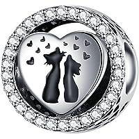 Annmors Charm Nini le lapin Charme Ours de Argent Sterling 925 Femmes Perles Charm avec 5A Zircone Compatible pour…