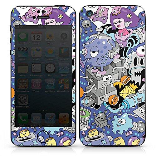 Apple iPhone SE Case Skin Sticker aus Vinyl-Folie Aufkleber Comic Art Kunst DesignSkins® glänzend