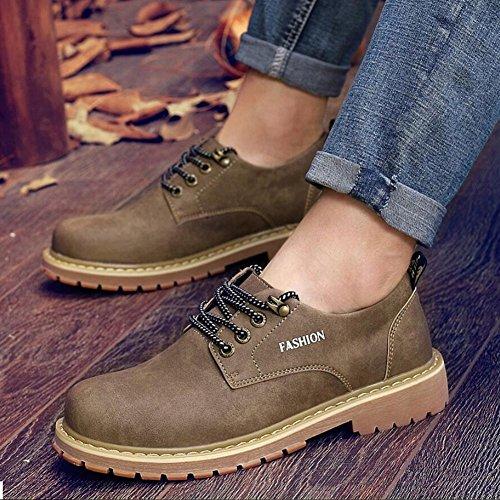 Hommes Casual Chaussures occasionnelles des hommes chaussures de sport extérieures de style britannique conduisant des mocassins ( Color : Black-42 ) Brown-42