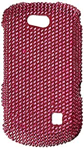 Aimo Wireless ZTEX501PCDI003 Bling Brilliance Premium Grade Diamond Case for ZTE Groove X501 - Retail Packaging - Hot Pink