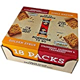 #6: Roll over image to zoom in Quaker Porridge to Go Breakfast Squares Wholegrain Oat Cereal Bars 18 x 55g (9 x Golden Syrup + 9 x Strawberry, Raspberry & Cranberry)