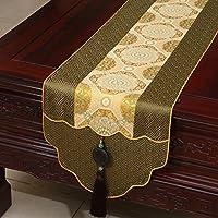 Corridore della tabella Chinese Jade Garden/tovaglia / panno di tabella / copertura tavolo/panno tabella del tè/Banner di letto/Bandiera di contatore-J 33x180cm(13x71inch)