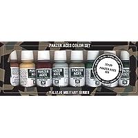 Vallejo val899 Peinture Model Color Panzer Aces N ° 6 Peinture acrylique – Couleurs assorties (Lot de 8)