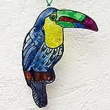 Tucán vidriera - Ave - Animal - Atrapa luz - Colgar en la ventana - Colgar en la pared - Colgar en...