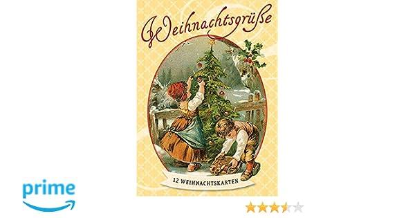 Card Verlag Weihnachtskarten.Weihnachtsgrüße Nostalgiepostkarten 12 Weihnachtskarten Amazon