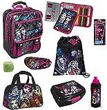 Familando Monster High Schulrucksack Set 12tlg. Federmappe gefüllt Sporttasche Dose Flasche MHCP8300