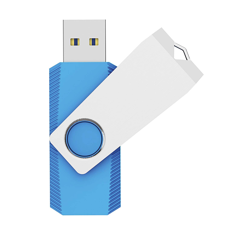 KEXIN 64GB Memoria USB 3.0 Pendrive 64GB Flash Drive Memoria Stick USB Llavero para Computadoras, Tabletas y Otros Dispositivos, Color de Azul Cielo
