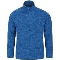 Mountain Warehouse Snowdon Mens Micro Fleece Top - Warm, Breathable, Quick Drying, Zip Collar Fleece Sweater, Soft…