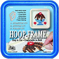 Easy Street Crafts Square Embroidery Hoop-Frame, 5 by 5-Inch, Blue