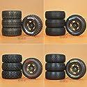 XMY Tyre Reifen Mounted Tires Wheel Rim Felge for SC-HUMMER 1/10 Short Course Traxxas Slash #D Good quality COLOR NEW