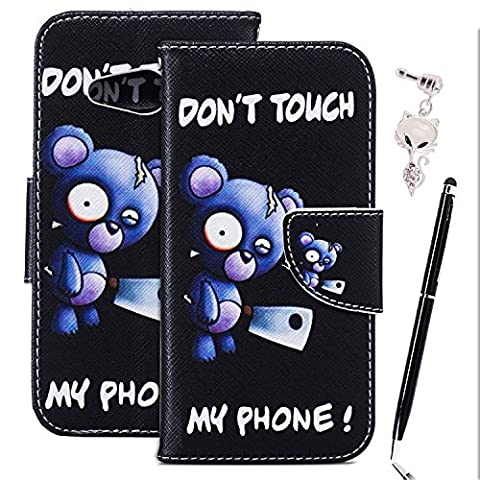 Etui Cuir Lumia 550 - Anfire Winnie l'ourson Motif Peint Mode PU