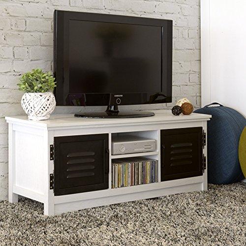 Italian Concept 25 Madia Porta TV Copenaghen Industrial, Wood, Bianco, 120  x 39 x 50 cm
