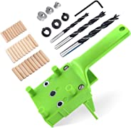 Straight Hole Wood Drill Guide Locator Self-Centering Drilling Puncher Doweling Saw Jig Set Woodworking Tools