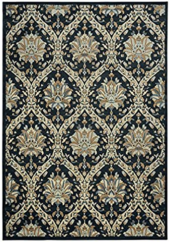 Rizzy Home Sorrento Collection Power Loomed Double Pointed Designs Area