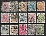 Goldhahn Österreich Nr. 69-83 gestempelt Kaiser Franz Joseph Freimarken 1899 - Briefmarken für Sammler