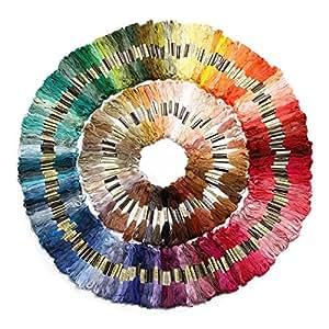 Gleader 250 matasse di filati per il punto croce ricamo maglia multicolore uncinetto