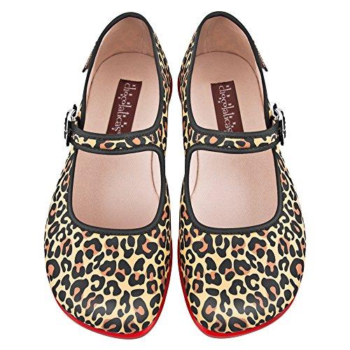Hot Chocolate Design Chocolaticas Leopard Ballerines Mary Jane pour femmes Multicolore