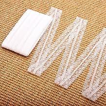 SAIYU 2 Rolls (15M/Each) Lace Roll White Lace Ribbon Vintage Floral Lace