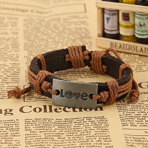 K & C Vintage Infinity Wrap-Stil Leder Armband für Herren und Damen, (Diy Potter Harry Kostüme)