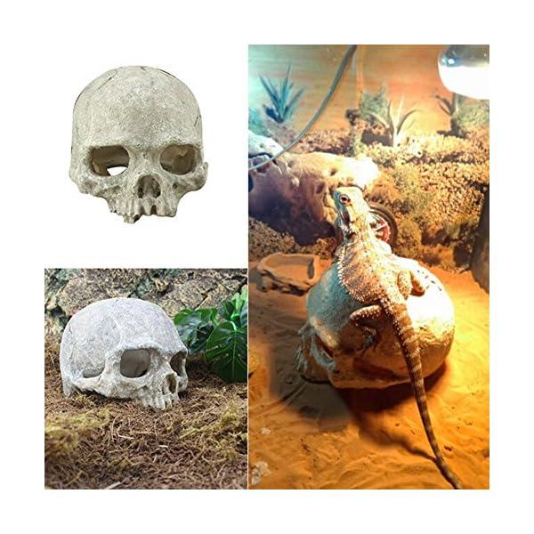 Resin Skull Fish Tank Aquarium Hiding Decoration Terrarium Reptile Ornaments