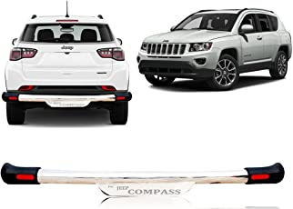 Auto Pearl - Premium Quality Car Armour Rear S.S Crash Guard with Fitting Kit for - Jeep Compass