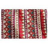 30 * 220cm/180cm/200cm Camino de Mesa Borla Cubierta de Mantel Estera de Tabla Bohemio Algodón Decoración - Roja, 30 * 180cm