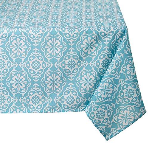 LOVELY CASA Lisboa Nappe, Polyester, Bleu, 250 x 140 cm