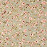 Vinylla Nappe en vinyle enduit imprimé roses, toile cirée facile à nettoyer, 140 x 140 cm