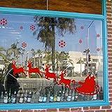 Yesurprise Vinilo Decorativo Vinilo Adhesivo Pegatina De Ventana Decoración De Navidad Navidad Santa Claus Reno Año Nuevo Color Rojo