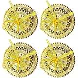 Inaaya Return Gift Boxes Kumkum,Jewellery,Sindoor Daani Box Indian Handcrafted Gift For Women And Ladies (Set Of 4), Golden, 20 Grams, Pack Of 1