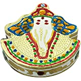 DEEP Ganesha Shaped Handmade Meenakari Kankavati/ Kumkumvati Box/ Meenakari Decorative Box/ Dry Fruit Box