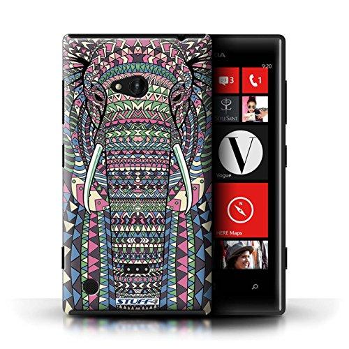 Kobalt® Imprimé Etui / Coque pour Nokia Lumia 720 / Hibou-Mono conception / Série Motif Animaux Aztec éléphant-Couleur