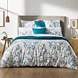 Sheridan algodón satén Paloma doble funda de edredón y funda de almohada Set, océano