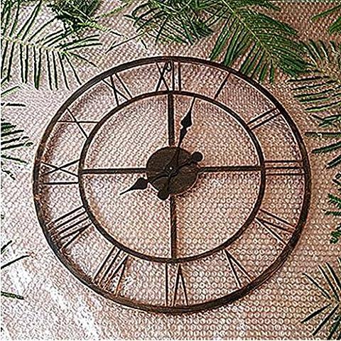 MNMKJH,Continental, chiffres romains, grande horloge murale, rétro pays d