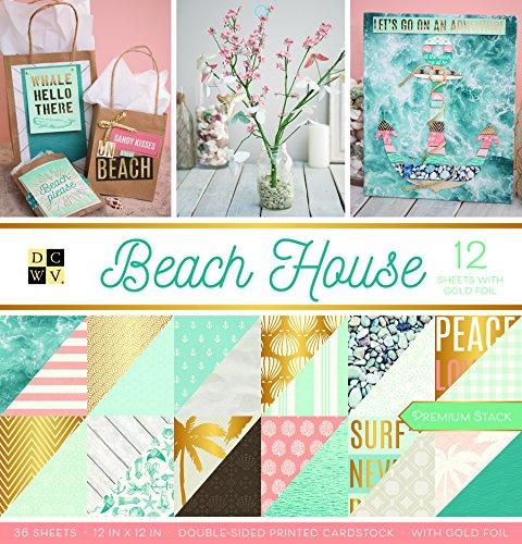 American Crafts Beach House Premium Bedruckt Karton Stack -