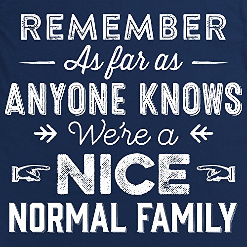 Nice Normal Family T-shirt, Uomo Blu navy