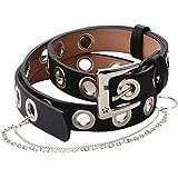 ZOYLINK Cintura Donna Punk Cintura Moda Donna Jeans Cintura Cintura e Catena di Pantaloni