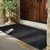 mayshine® 90x150 cm Felpudos Alfombrilla Antideslizante Extremadamente Resistente, Exterior e Interior, se Puede Lavar, para limpiarse en Puerta, Entrada, Exteriores