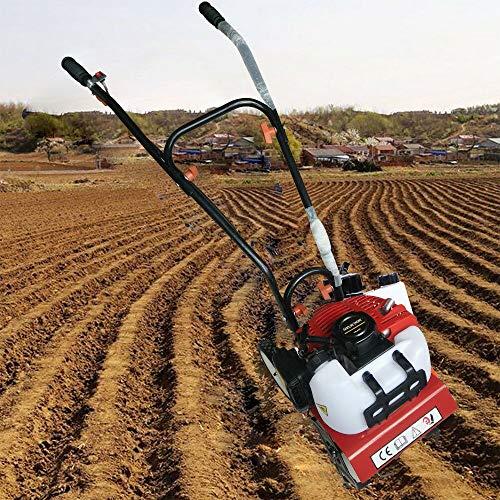 OUKANING 2-Takt Benzin Vertikutierer Gartenfräse Ackerfräse Motorhacke