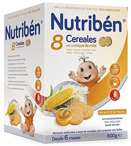 Nutriben Papilla 8 cereales toque miel galletas María